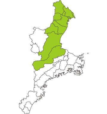 三重県の対応可能エリア